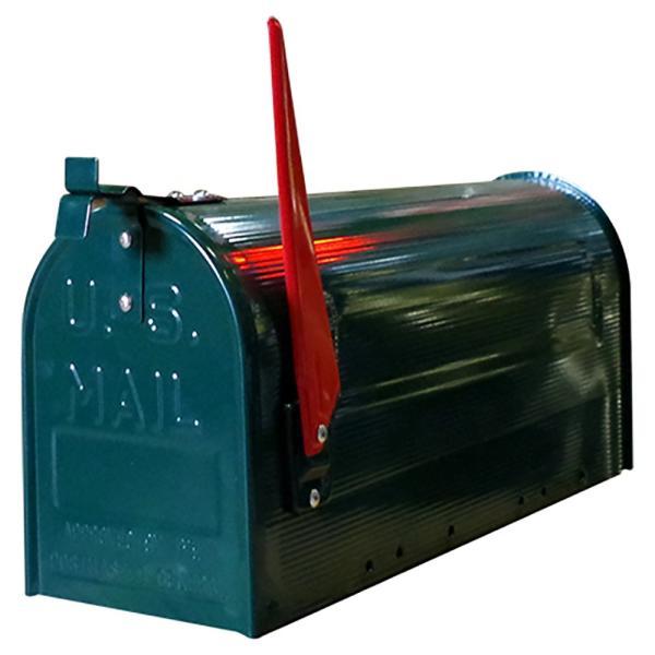 郵便受け 海外 アメリカンポスト スチール製 ポール付 STEEL RURAL MAIL BOX  スタンドメールボックス ポスト 西海岸風 インテリア アメリカン雑貨|rose-bowl|03