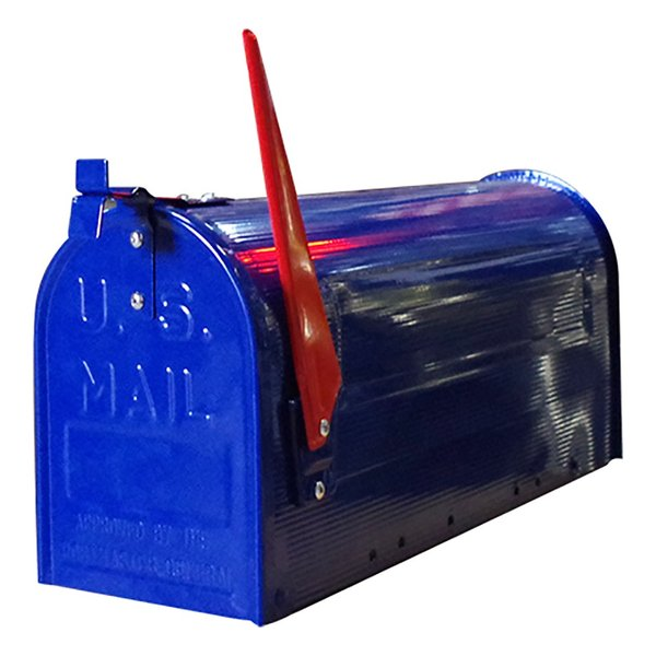 郵便受け 海外 アメリカンポスト スチール製 ポール付 STEEL RURAL MAIL BOX  スタンドメールボックス ポスト 西海岸風 インテリア アメリカン雑貨|rose-bowl|04