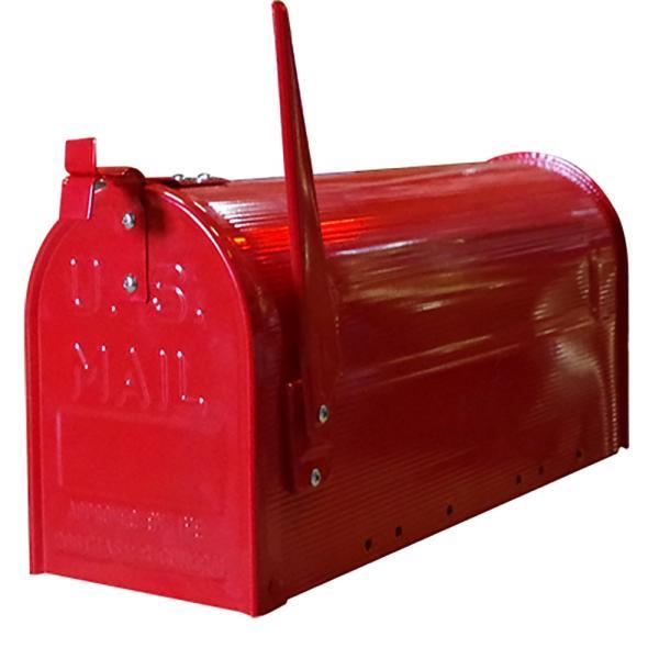 郵便受け 海外 アメリカンポスト スチール製 ポール付 STEEL RURAL MAIL BOX  スタンドメールボックス ポスト 西海岸風 インテリア アメリカン雑貨|rose-bowl|05