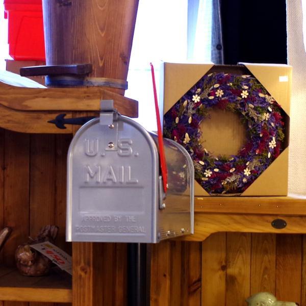 郵便受け 海外 アメリカンポスト スチール製 ポール付 STEEL RURAL MAIL BOX  スタンドメールボックス ポスト 西海岸風 インテリア アメリカン雑貨|rose-bowl|09