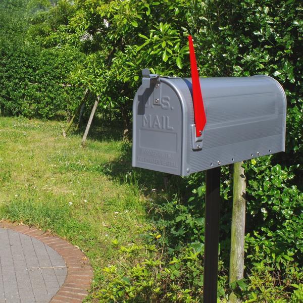郵便受け 海外 アメリカンポスト スチール製 ポール付 STEEL RURAL MAIL BOX  スタンドメールボックス ポスト 西海岸風 インテリア アメリカン雑貨|rose-bowl|10
