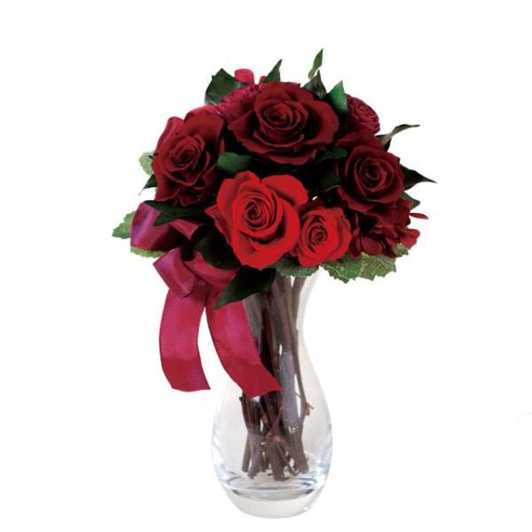 ルージュローズブーケ レッド ウエディング ブーケ 母の日 ギフト 贈り物 誕生日 送別会 結婚式|rose-f