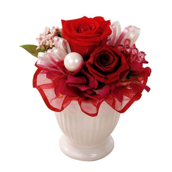 ペンタフル レッド プリザーブドフラワー ウエディング ブーケ 母の日 ギフト 贈り物 誕生日 送別会 結婚式 rose-f