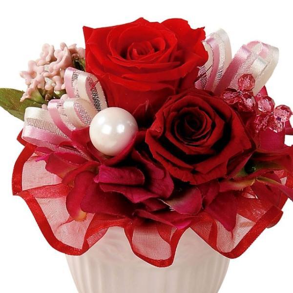 ペンタフル レッド プリザーブドフラワー ウエディング ブーケ 母の日 ギフト 贈り物 誕生日 送別会 結婚式 rose-f 02