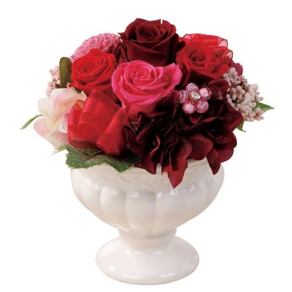 フェリーチェM レッド ウエディング ブーケ 母の日 ギフト 贈り物 誕生日 送別会 結婚式|rose-f