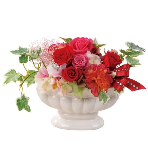 フェリーチェオーバル レッド ウエディング ブーケ 母の日 ギフト 贈り物 誕生日 送別会 結婚式|rose-f