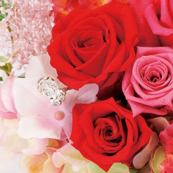 フェリーチェオーバル レッド ウエディング ブーケ 母の日 ギフト 贈り物 誕生日 送別会 結婚式|rose-f|02