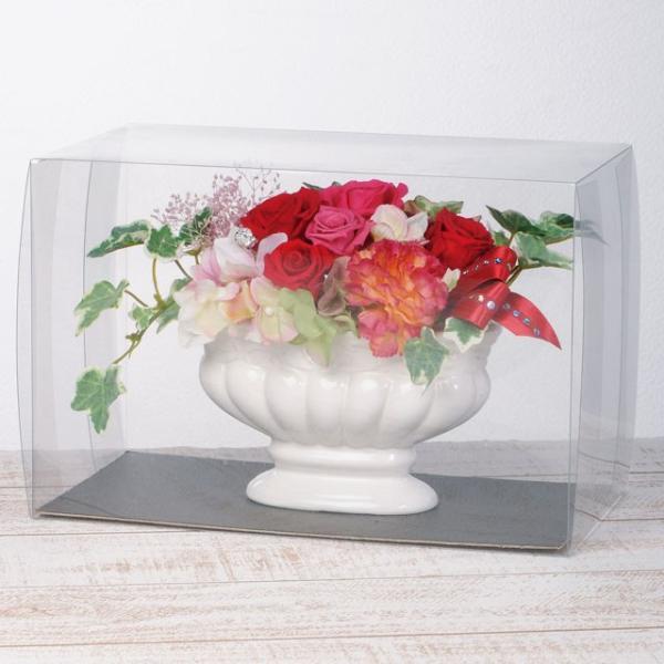フェリーチェオーバル レッド ウエディング ブーケ 母の日 ギフト 贈り物 誕生日 送別会 結婚式|rose-f|03