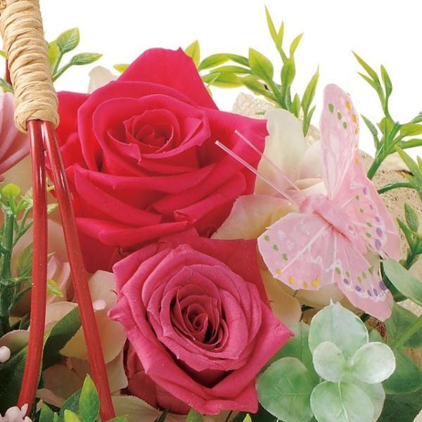 バスケットガーデン ピンク ウエディング ブーケ お見舞い 内祝い 母の日 贈り物 誕生日 送別会 結婚式|rose-f|02