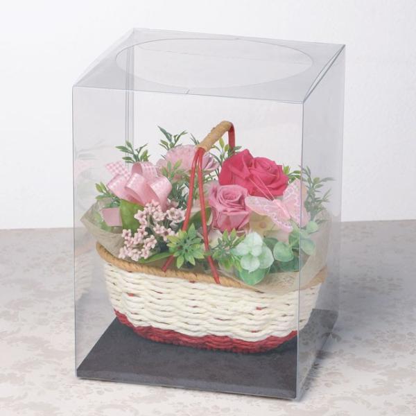 バスケットガーデン ピンク ウエディング ブーケ お見舞い 内祝い 母の日 贈り物 誕生日 送別会 結婚式|rose-f|03