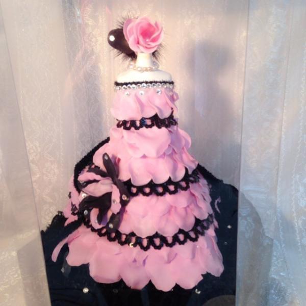 クリスタルパフュームフラワー ドール ピンク ウエディング ブーケ 母の日 ギフト 贈り物 誕生日 送別会 結婚式 rose-f