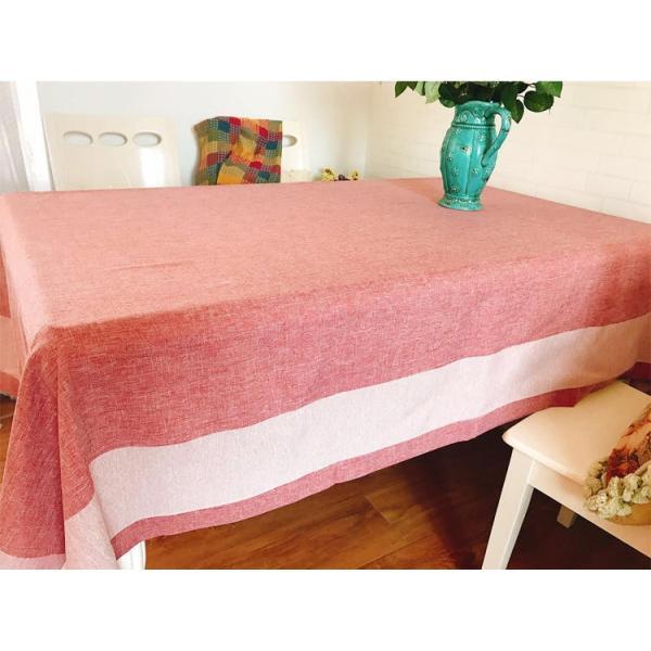 4〜6人掛け北欧 ダイニングテーブクロス 140X220cm 大人しい上品カラーコーディネーター ピンク色|rose-viva-shop