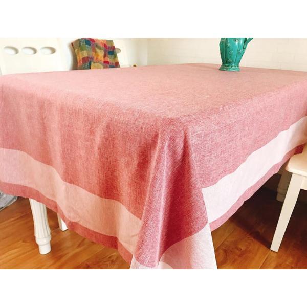 4〜6人掛け北欧 ダイニングテーブクロス 140X220cm 大人しい上品カラーコーディネーター ピンク色|rose-viva-shop|02