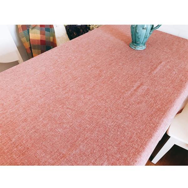 4〜6人掛け北欧 ダイニングテーブクロス 140X220cm 大人しい上品カラーコーディネーター ピンク色|rose-viva-shop|03