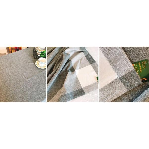 4〜6人掛け北欧 ダイニングテーブクロス 140X220cm 大人しい上品カラーコーディネーター グレー色 rose-viva-shop 03