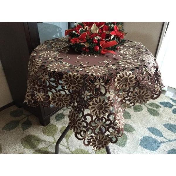 テーブルランナー 40×200cm  カットワーク刺繍 ブラウン|rose-viva-shop|04