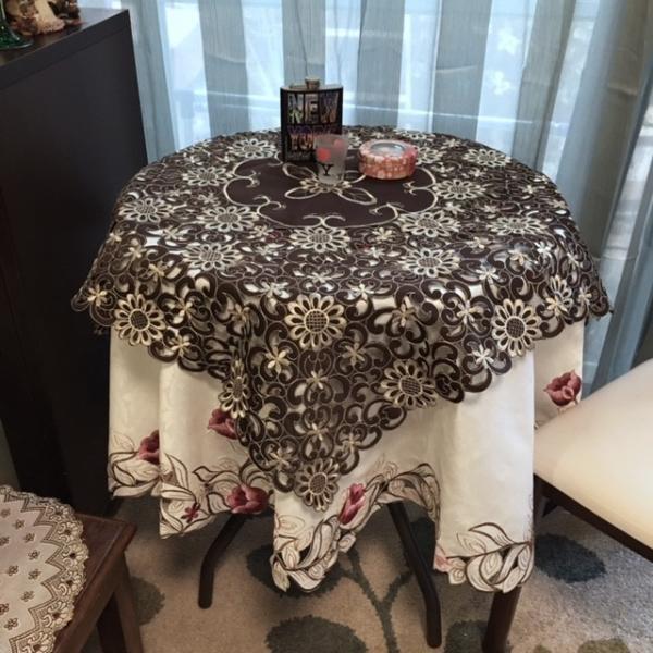 テーブルランナー 40×200cm  カットワーク刺繍 ブラウン|rose-viva-shop|05
