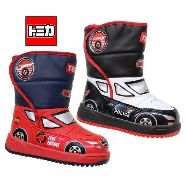 トミカ TOMICA 10632 10633 ブーツ スノーブーツ ウィンターブーツ トミカワールド 消防車 パトカー プラレール靴 トミカ靴  キッズブーツ 子供靴 男の子 防寒