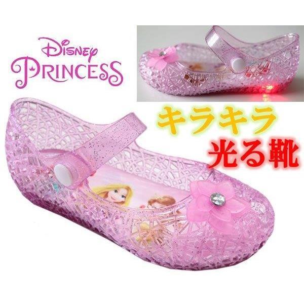 d658f93210756 光る靴 ディズニ −プリンセス ディズニープリンセス ガラスの靴 サンダル キッズシューズ 子供靴 靴