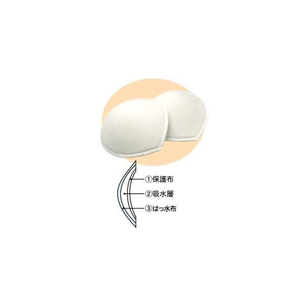 母乳パッド 日本製 2枚組 マタニティ 布製 パット 洗い替え エコ 繰り返し 経済的 おっぱい モレ 吸収 ローズマダム 0695 rosemadame 02