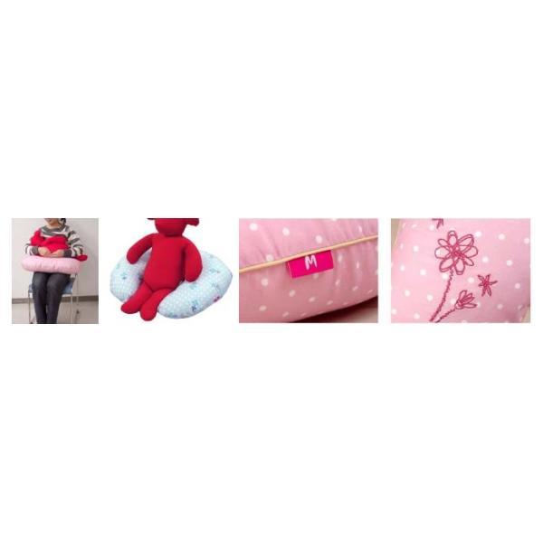 \送料無料/授乳クッション カバー セット 出産祝い 花刺繍 ドットプリント ローズマダム 9094|rosemadame|03
