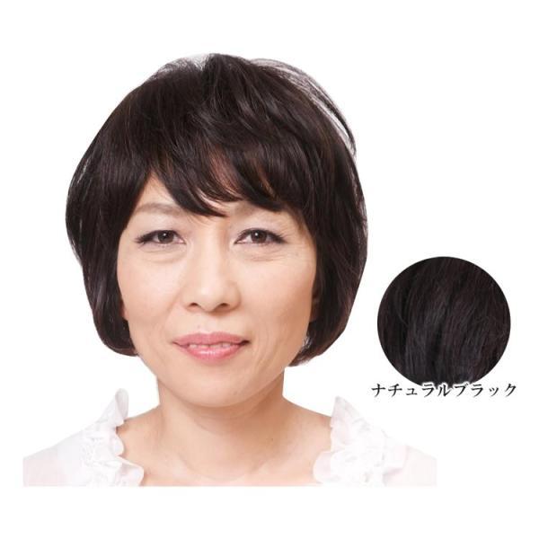 人毛100% マルチヘアピース ナチュラルブラック TP10(ヘアケア)