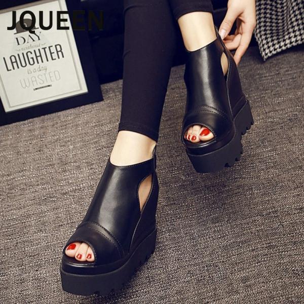 JQUEEN厚底サンダルレディースウエッジソールサマーブーツ厚底靴ブーツサンダルシューズパンプスインヒールサンダル軽量履きやすい