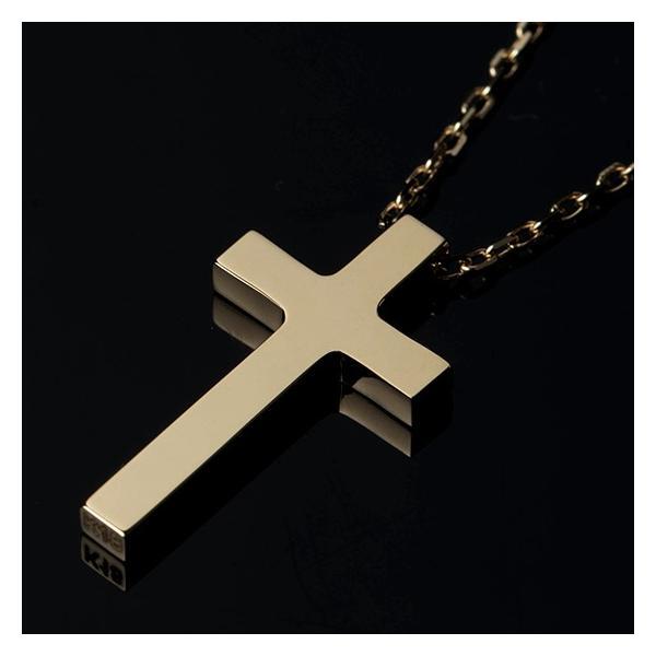 ネックレス メンズ 金 18K ゴールド 十字架 クロス  18金  シンプル  クリスマス プレゼント 男性 rossoeblu 02