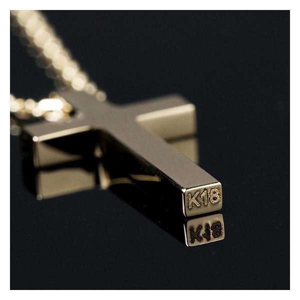ネックレス メンズ 金 18K ゴールド 十字架 クロス  18金  シンプル  クリスマス プレゼント 男性 rossoeblu 03