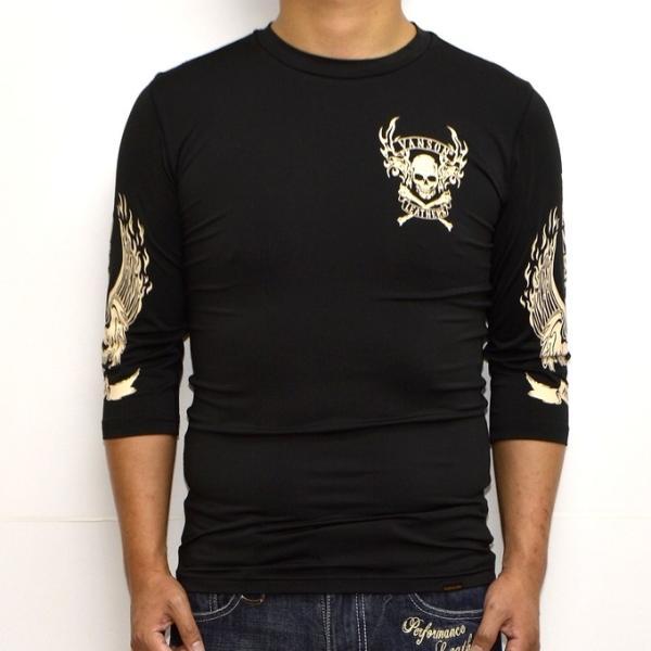当店別注 バンソン VANSON ABV-802 ドライ6分 Tシャツ 吸汗速乾  抗菌防臭 UVカット roughriders 02