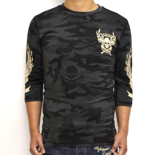 当店別注 バンソン VANSON ABV-802 ドライ6分 Tシャツ 吸汗速乾  抗菌防臭 UVカット roughriders 04
