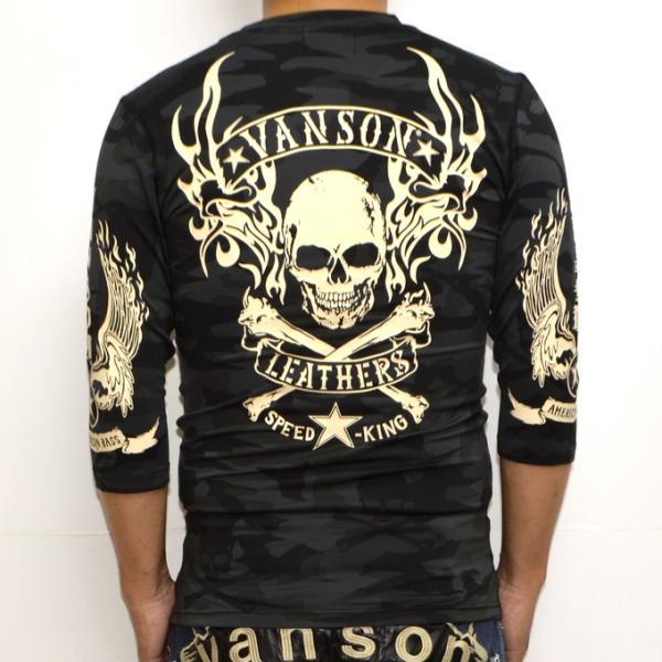 当店別注 バンソン VANSON ABV-802 ドライ6分 Tシャツ 吸汗速乾  抗菌防臭 UVカット roughriders 05