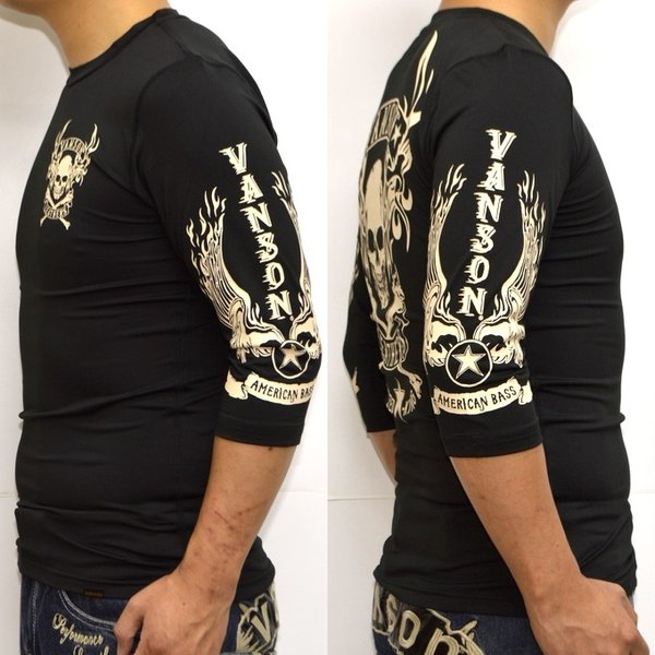 当店別注 バンソン VANSON ABV-802 ドライ6分 Tシャツ 吸汗速乾  抗菌防臭 UVカット roughriders 06