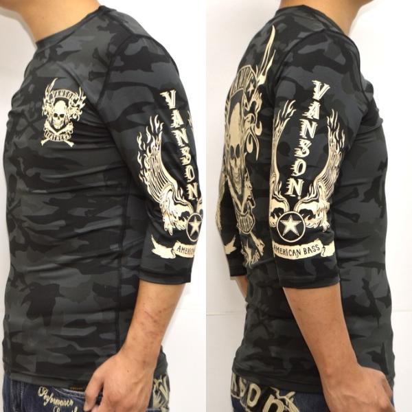 当店別注 バンソン VANSON ABV-802 ドライ6分 Tシャツ 吸汗速乾  抗菌防臭 UVカット roughriders 07