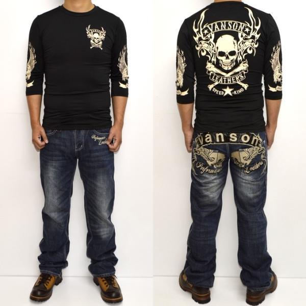 当店別注 バンソン VANSON ABV-802 ドライ6分 Tシャツ 吸汗速乾  抗菌防臭 UVカット roughriders 08