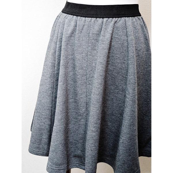 送料無料 スウェットスカート 綿100% 無地フレアースカート カジュアル rovel 04