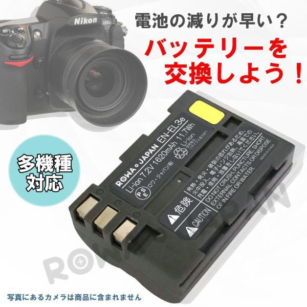 2個セット NIKON ニコン EN-EL3e 互換 バッテリー と USB充電器 バッテリーチャージャー セット 【ロワジャパン】