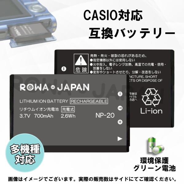 USB マルチ充電器 と CASIO カシオ NP-20 互換 バッテリー 【ロワジャパン】