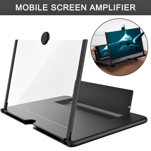 スマホ 拡大鏡 スマホ スクリーンアンプ スタンド 折りたたみ式 携帯便利 軽量 目の保護 疲労軽減 ルーペ HD 3-4倍 iphone/Androidスマートフォン