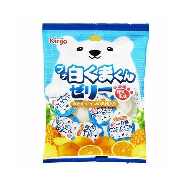 金城製菓 9個 プチ白くまくんゼリー練乳風味(16gX9個)