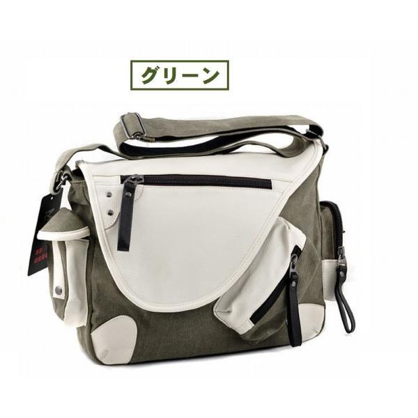 メッセンジャーバッグ 帆布 メンズ レディース ショルダー 鞄 選べる6色|royal-pine|02