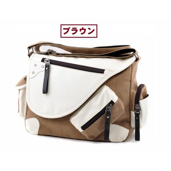 メッセンジャーバッグ 帆布 メンズ レディース ショルダー 鞄 選べる6色|royal-pine|03