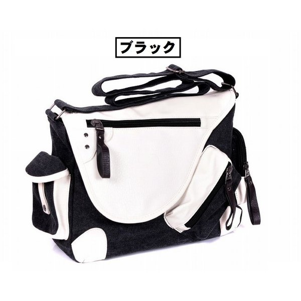 メッセンジャーバッグ 帆布 メンズ レディース ショルダー 鞄 選べる6色|royal-pine|04