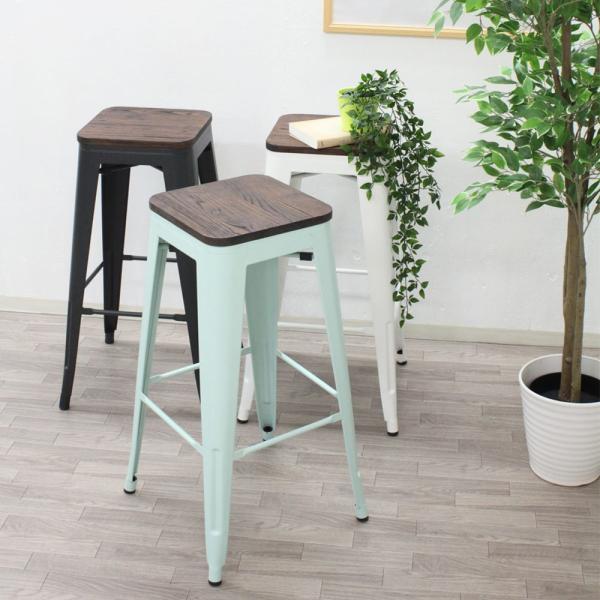 天然木×スチール ヴィンテージ カウンターチェア madoi(まどい)   おしゃれ アンティーク 木製 椅子 北欧 バーチェア チェア 安い カフェ イス royal3000 02