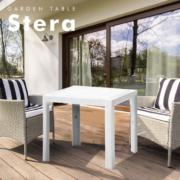 ステラテーブル 80×80cm | 屋外 ベランダ プラスチック 庭 ガーデン テーブル ガーデニング ガーデニングテーブル アウトドア ステラ テラス インテリア