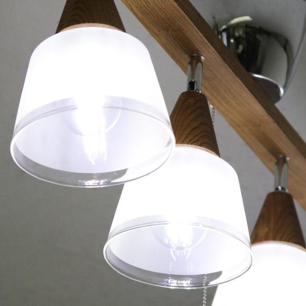 シーリングライト おしゃれ ウッド フロストガラスシェード 4灯 honoka   LED電球対応 照明 天井 天井照明 スポット ライト シーリング おしゃれ リビング royal3000 02