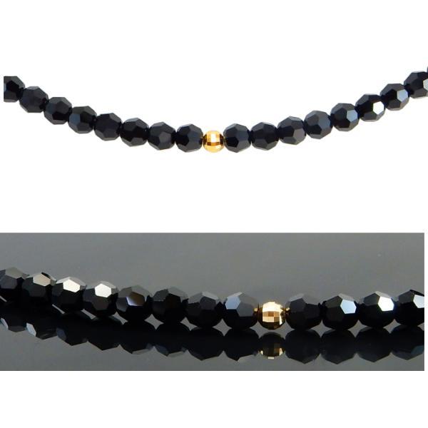 ネックレス メンズ ブラックダイヤカラー スワロフスキー R クリスタル 18k 18金 アクセサリー k18 4mm ブランド メンズアクセサリー|royaljewelry|06