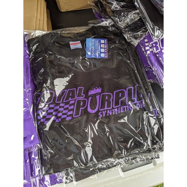 【スタッフ用】ロイヤルパープルロゴT 黒、紫文字 L送料込 royalpurple