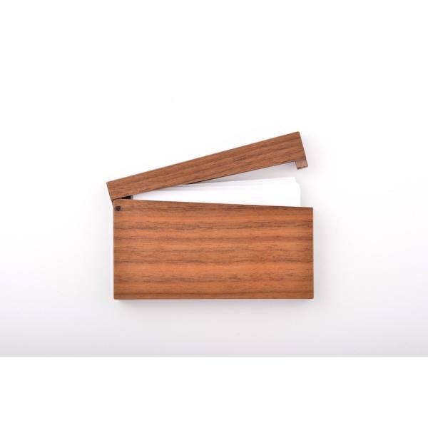 RoyalWood 天然木の名刺入れ ZIPPO型 ウォールナット|royalwood-meiboku|02