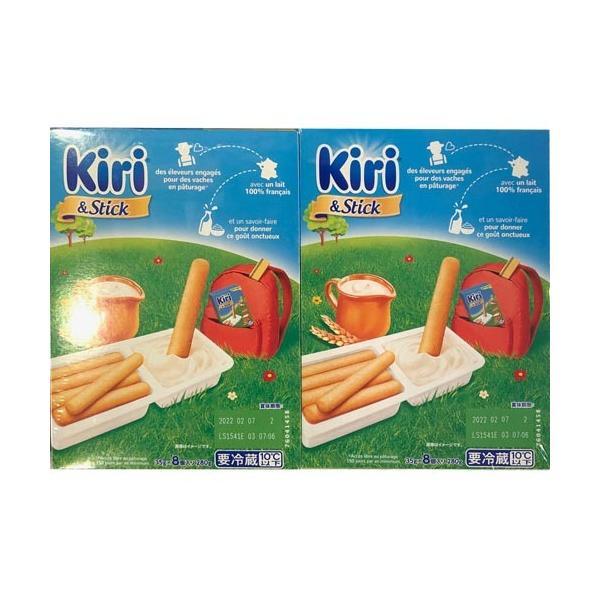Kiri&Stick キリクリームチーズディップとクラッカーの詰め合わせ (35gX8箱)2箱セット